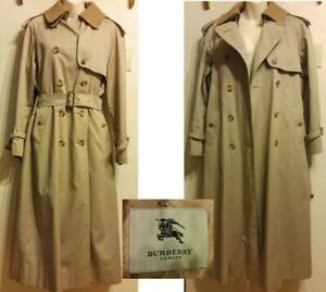 Oakville GENUINE BURBERRY $1500 LADIES 8-10 M RAIN COAT TRENCH SPRING NEARLY NEW BEIGE New York Burberrys Store
