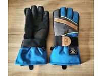 Boys Waterproof Snow Gloves (Size XLB in Blue) - Only Used Once!