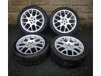 """18"""" MG ZT Alloy wheels tyres 5x100 Rover 75 Subaru Legacy Outback Forester"""