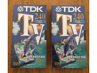Two Brand New Sealed TDK 240 VHS Tapes
