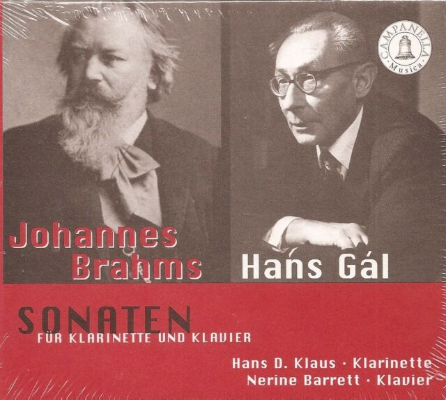 Brahms • Gál – Sonatas for Clarinet and Piano / Hans D. Klaus • Nerine Barrett