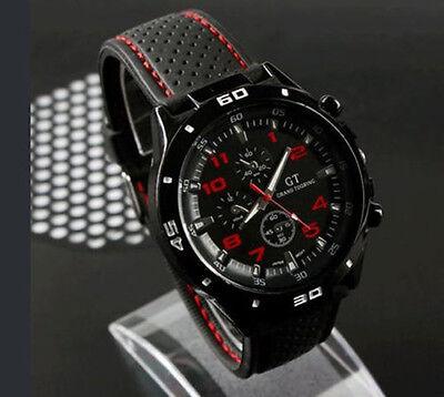 $4.89 - New Black Fashion Stainless Steel Luxury Sport Analog Quartz Mens Wrist Watch