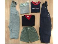 BUNDLE BABY BOYS CLOTHES OUTFITS 18-24 months - shirts, dungarees, shorts.....
