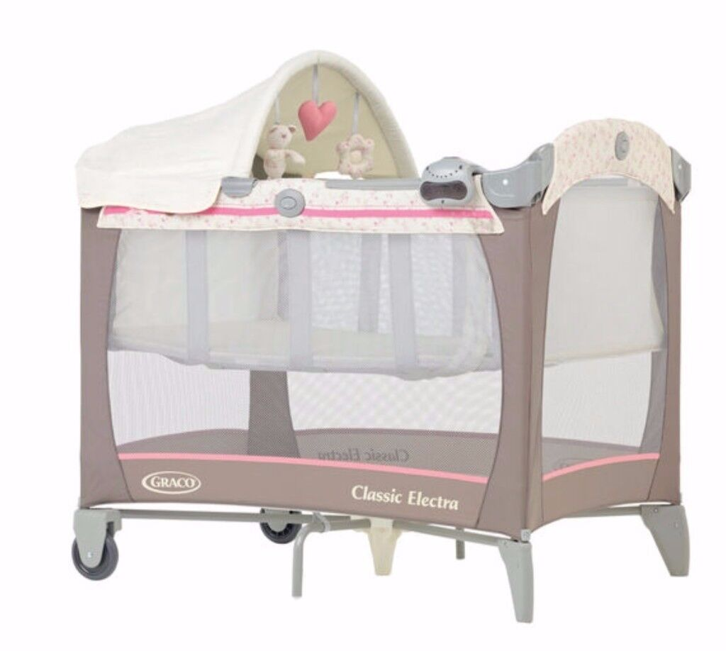 Baby travel cot along with the mattress