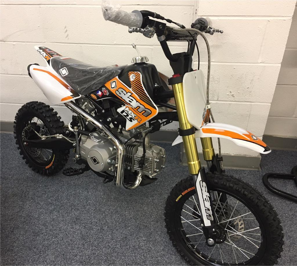 brand new slam mxr125 pit bike 125 mx kids dirt bike like. Black Bedroom Furniture Sets. Home Design Ideas