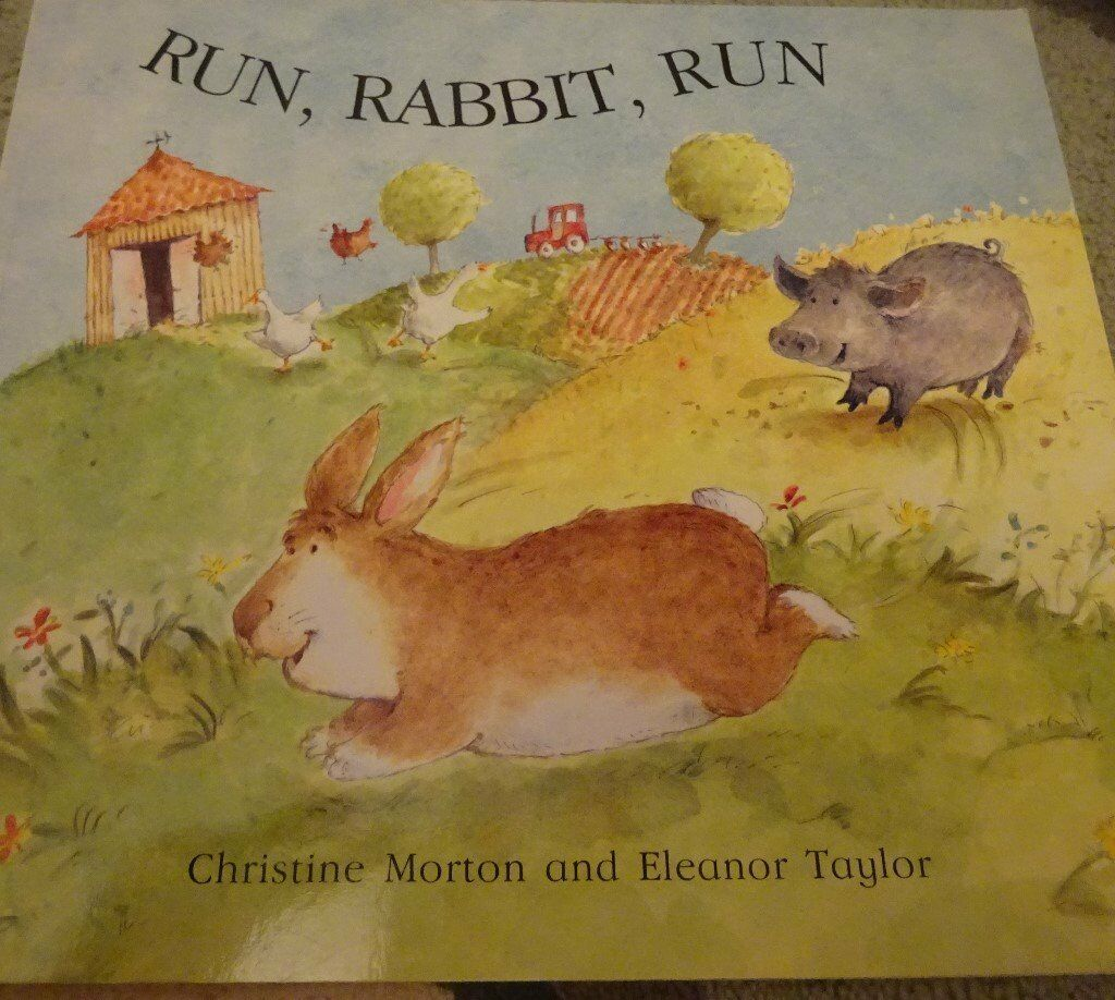 New Run Rabbit Run children kids story book bedtime only £1 ideal xmas gift