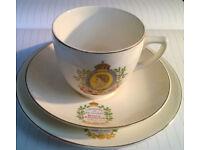 queen elizabeth coronation tea set