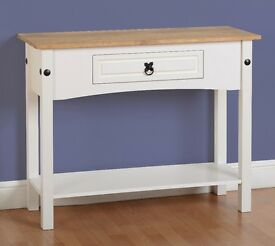 New Corona console hall table in white grey or cream