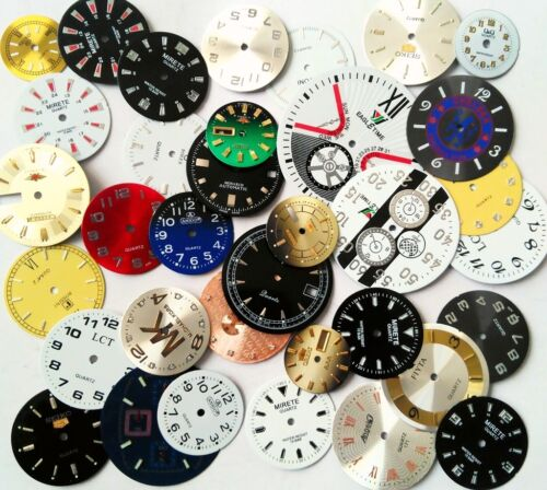 35pcs Lot of Steampunk Watch Faces Dials Parts for Jewelry Making Industrial Art