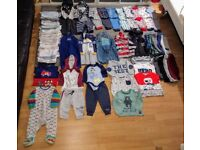 Big bundle of baby boy winter clothes 9-12 months vgc from pet and smoke free home