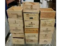 6 bottle size wooden wine box/crate/storage unit - FREE SHIPPING