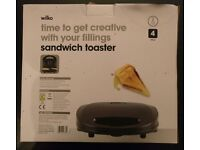 Wilko sandwich maker/toaster for sale