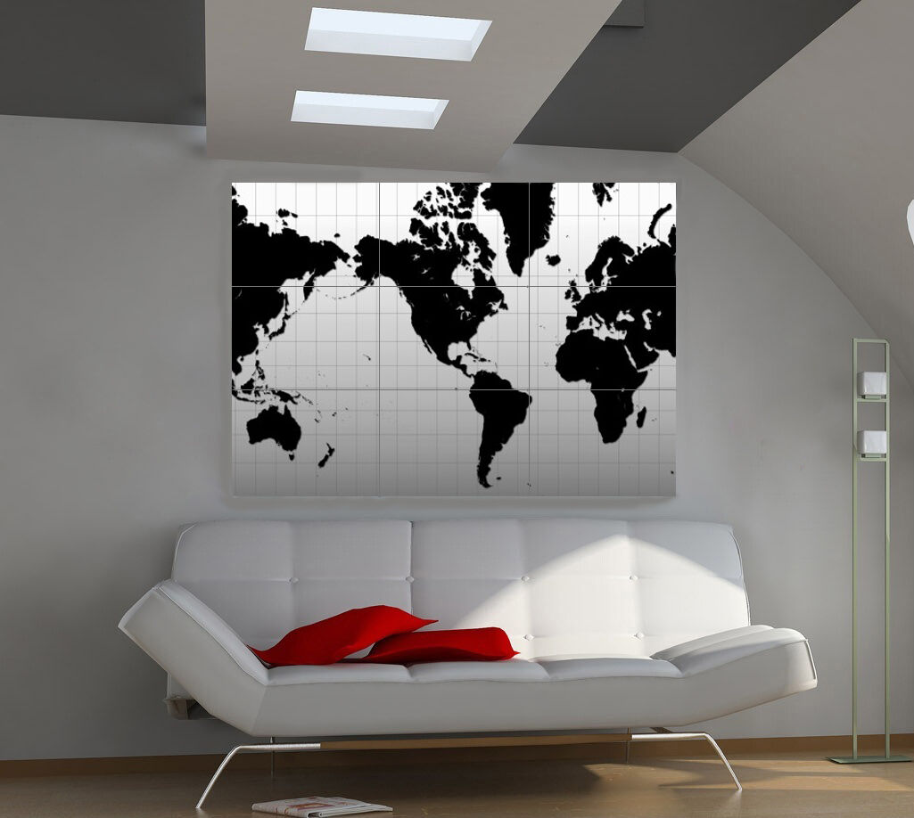 "Плакаты Continents Huge Art Giant Poster Wall Print 39""x57"" d502"