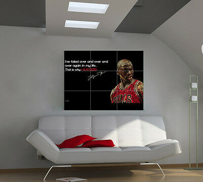 "Michael Jordan Huge Art Giant Poster Wall Print 39""x57"" px43"