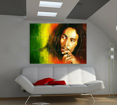 "Bob Marley Huge Art Giant Poster Wall Print 39""x57"" a508"