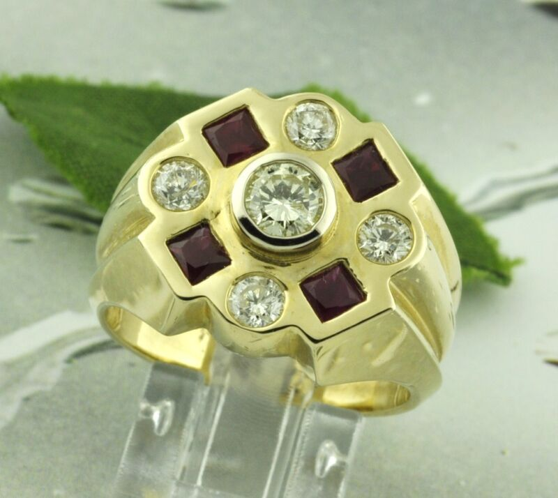 2.10 Ct 14k Solid Yellow Gold Men