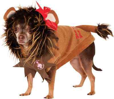 Cowardly Lion Wizard of Oz Movie Fancy Dress Up Halloween Pet Dog Cat Costume - Dog Cowardly Lion Costume