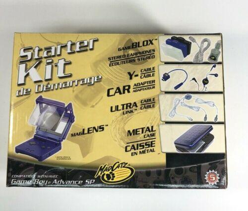 Mad Catz Starter Kit For Gameboy Advance SP New & Complete!