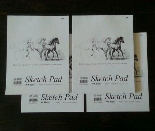 """BAZIC 40 Ct. 9"""" X 12"""" Premium Sketch Pad"""