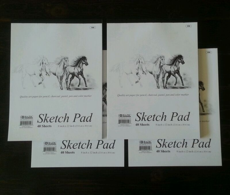 4 Sketchbooks 9 x 12 Inches 160 Sheets Premium Quality Sketch Drawing Paper Pad
