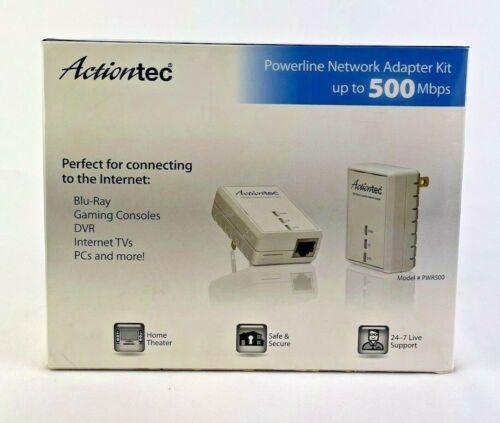 Actiontec PWR500  Network Adapter Kit Set 500 Mbps