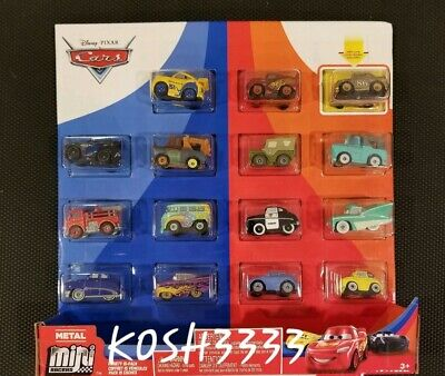 Disney Pixars Cars 3 Mini Racers 15-pack Golden Chick Hicks Fillmore RED & more