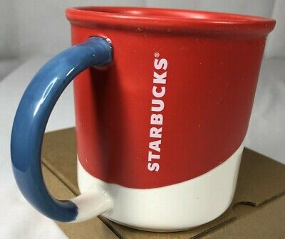 Starbucks Coffee Mug 2017  Cup 12 Fl oz Ceramic Red White Blue Patriotic