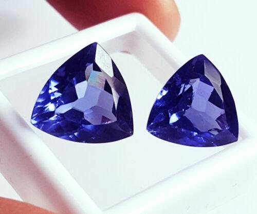 Natural Tanzanite Pair Certified Loose Gemstone 8 to 10 Cts ~~~~~PR78