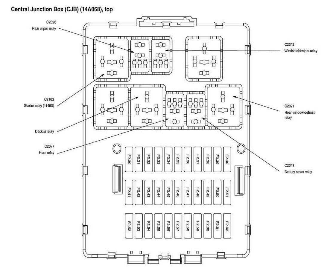 Ford OEM Relay F5TZ-14N089-B Factory Five Pin 1995-2012
