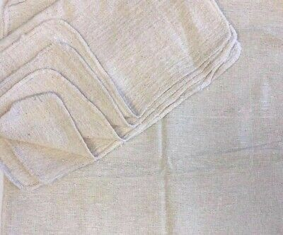 500 Pieces Industrial Shop Rags Cleaning Towels Natural 18x18
