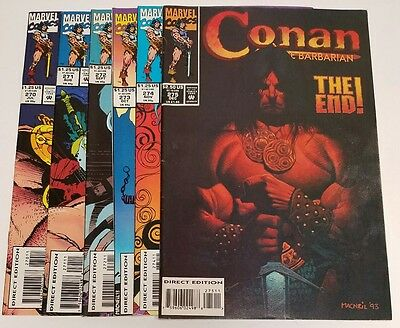 CONAN THE BARBARIAN #270 - 275 Marvel Comics 1993 Last Issue -Low Print Run-
