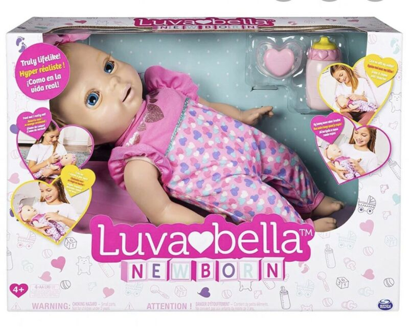 Luvabella Newborn Interactive Baby Doll Blonde Hair Real Expressions & Movement