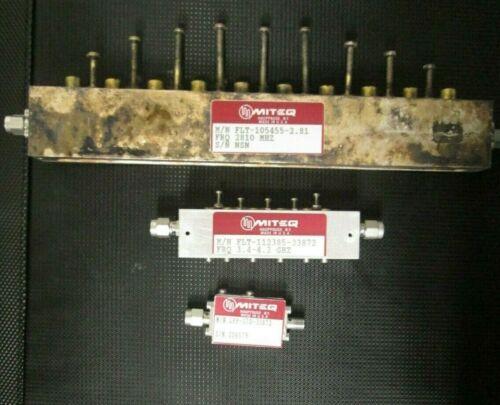 Miteq RF Filters 2.81 GHz, 3.4-4.2 GHz 3 pieces