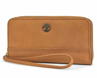Timberland Womens Leather Wallet RFID Protection Zip Around Clutch