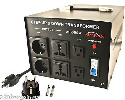 Step Up Down Simran 5000 Watt Voltage Converter Transformer 110 220 Volt 5000W