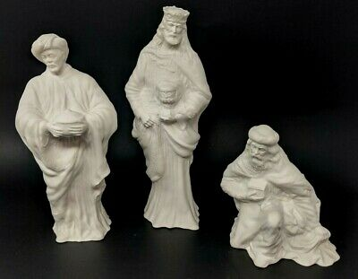 Boehm First Noel Three Kings Wise Men White Bisque Porcelain Nativity Set in Box