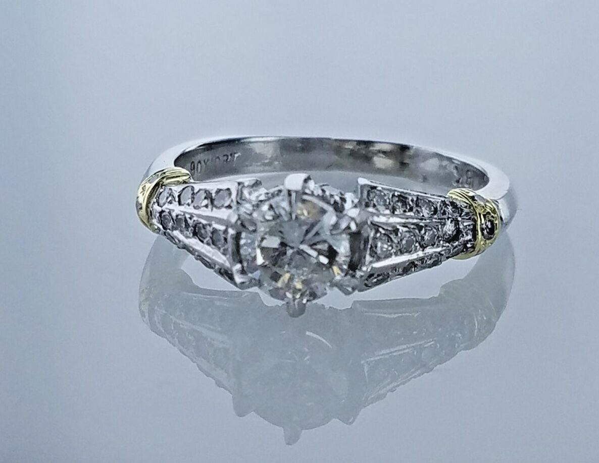 1.20 Carat GIA Grading Solitaire Diamond Engagement Ring H Color