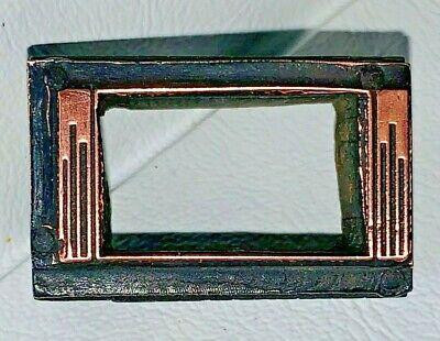 Copper Letterpress Printers Wood Block Copper Mortice Frame