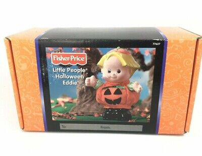 Fisher-Price Little People Eddie Halloween Pumpkin Costume Doll With Sounds