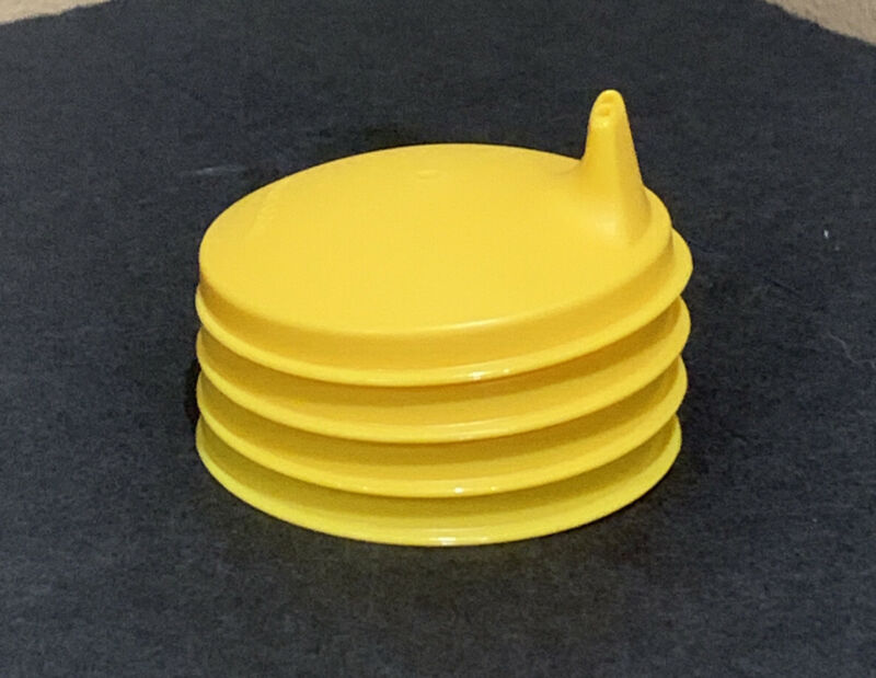 TUPPERWARE SIPPER SEAL DOMED SET OF 4-IN YELLOW COLOR-BPA FREE !!!!