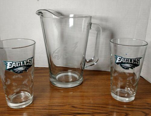 Philadelphia Eagles Pitcher And Glasses - $40.00