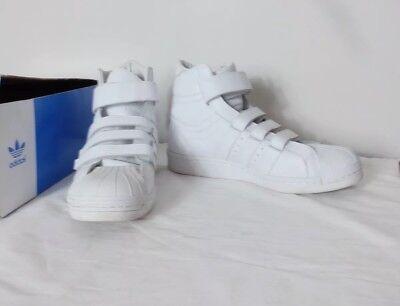 Adidas x Juun J Promodel 80s Hi tops in white S82805 UK 7