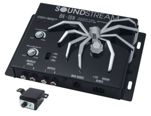SOUNDSTREAM BX-10X Digital Bass Booster Reconstruction Sound Processor Remote