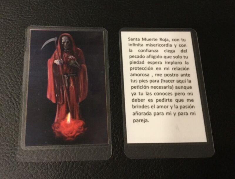 Santa Muerte - Love Protection - Holy Death - Prayer Card - Laminated