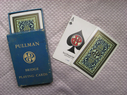 BRIDGE CARD DECK_NNOS_RAILROAD PLAYING CARDS DECK PULLMAN BRIDGE