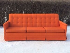 Mid century orange sofa