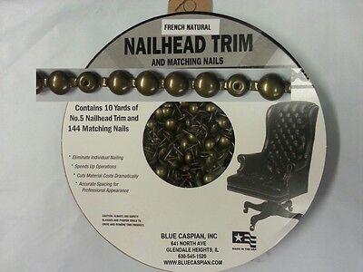 30 Feet Upholstery FRENCH NATURAL Tackstrips Roll Nail Strip Nailhead Trim