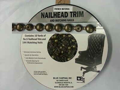 FRENCH NATURAL  30 Feet Upholstery Tackstrips Roll Nail Strip Nailhead Trim