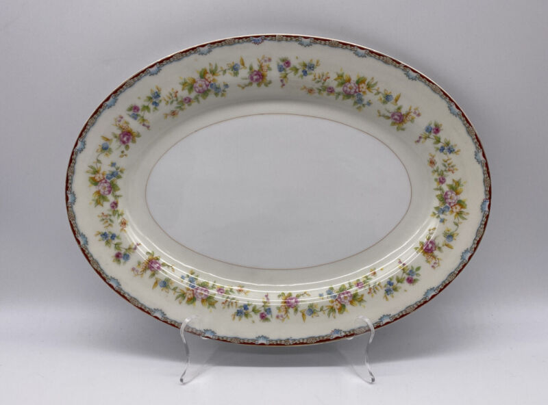 Imperial China IMP6 Oval Serving Tray Platter Vintage Made In Japan
