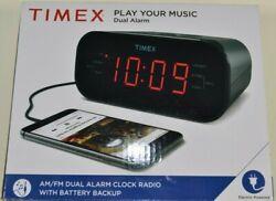Timex T231GRY Dual Alarm AM/FM Clock Radio with line in NIB (FACTORY SEALED)